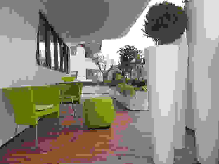 progetti Balcone, Veranda & Terrazza in stile moderno di damiano Moderno
