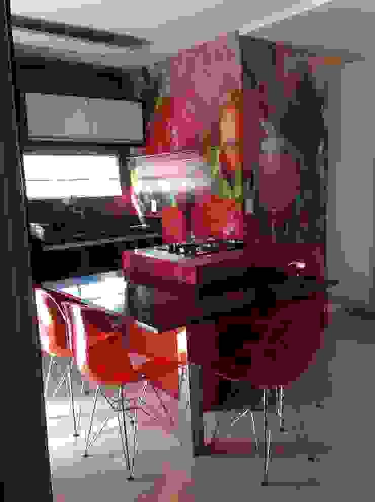 Desenho e Decoração de Apartamento no Bairro de Fátima, Fortaleza Cozinhas modernas por 4R Arquitetura Moderno