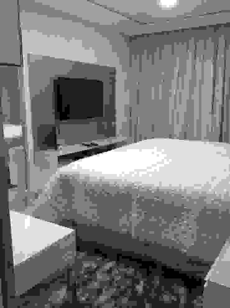 Desenho e Decoração de Apartamento no Bairro de Fátima, Fortaleza Quartos modernos por 4R Arquitetura Moderno