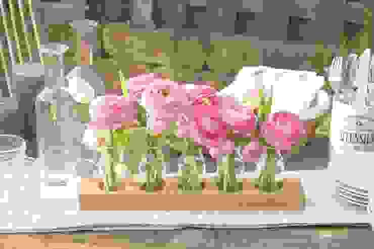 Milchkannenvase aus Eiche Blumen-wiese EsszimmerAccessoires und Dekoration