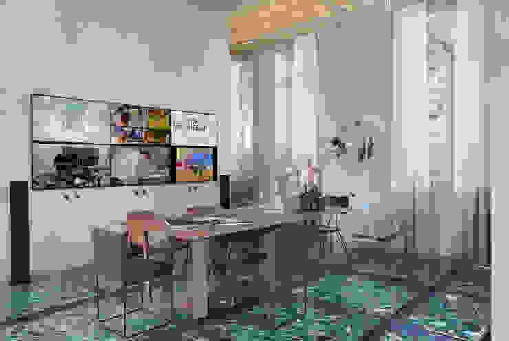 Lab LZ by GT – Casa Cor 2015 Salas multimídia modernas por Gisele Taranto Arquitetura Moderno