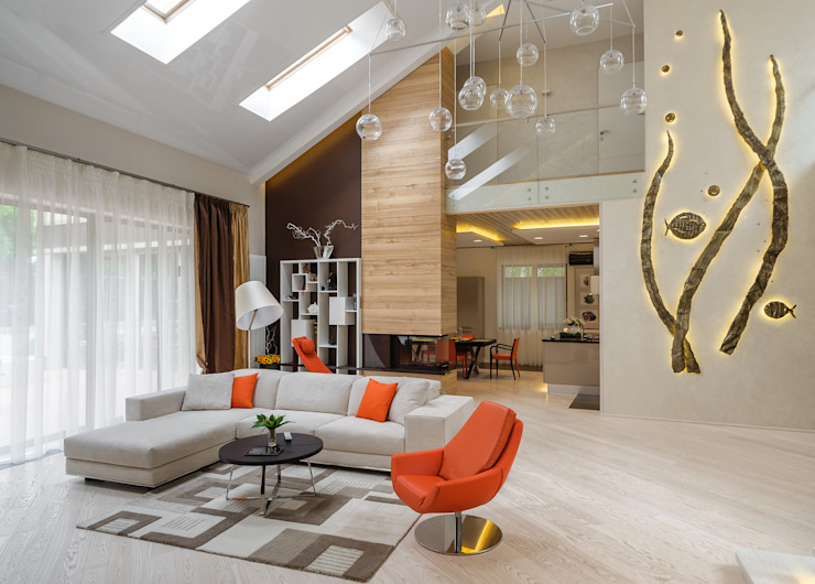 homify Modern living room Orange