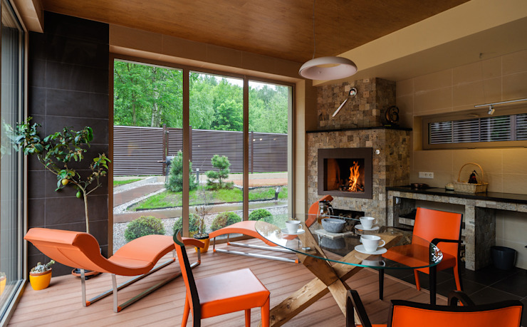 homify Modern Terrace Orange