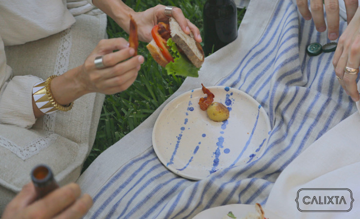 Platos para comer de todo. de Calixta Moderno Cerámica