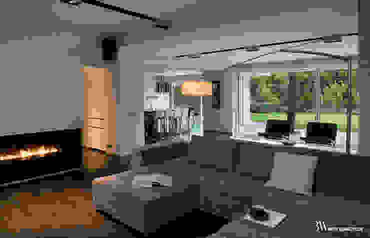 Living room by Bartek Włodarczyk Architekt, Minimalist