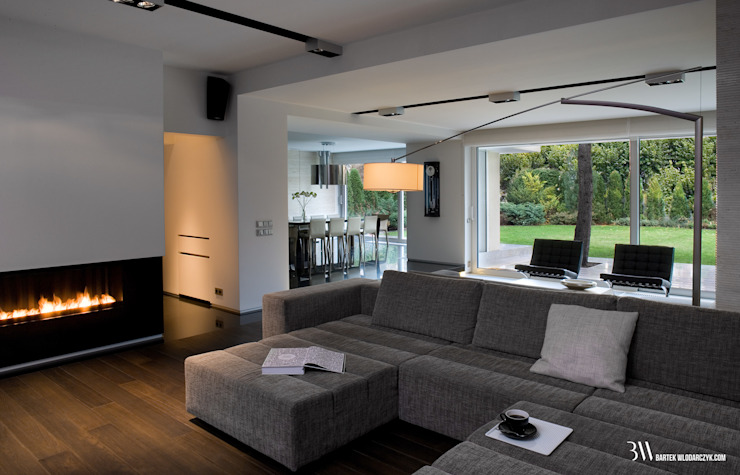Salon de style  par Bartek Włodarczyk Architekt, Minimaliste