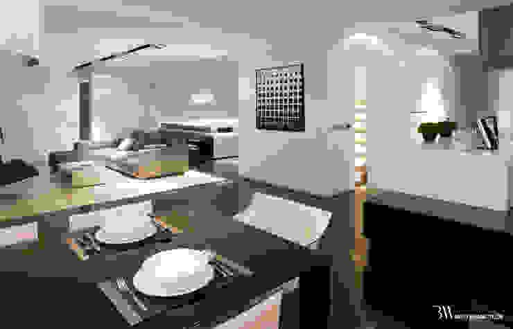 Minimalist dining room by Bartek Włodarczyk Architekt Minimalist