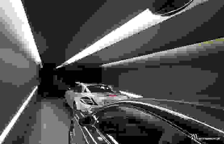 Minimalist garage/shed by Bartek Włodarczyk Architekt Minimalist