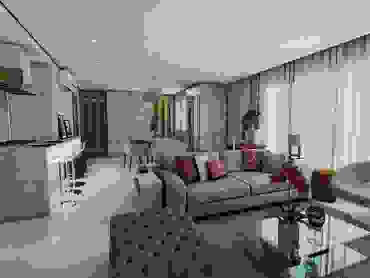 Projeto F & M Salas de estar modernas por Ricardo Cavichioni Arquitetura Moderno