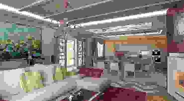 Интерьер гостиной Гостиные в эклектичном стиле от Студия дизайна Натали Хованской Эклектичный