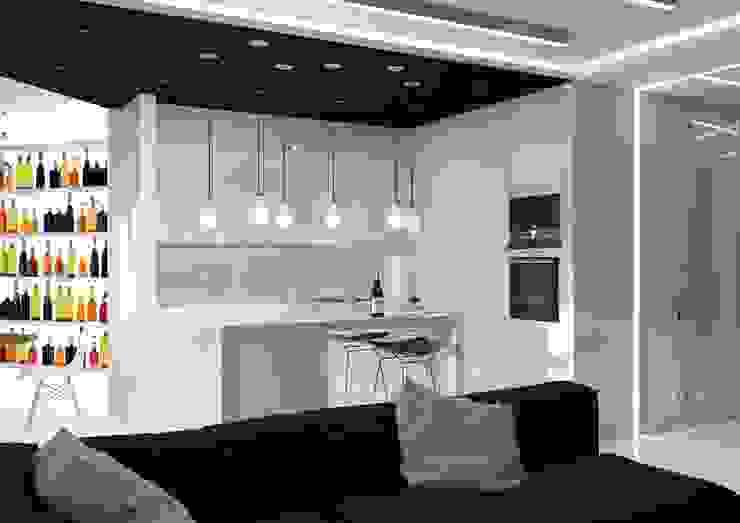 Kitchen by QUADRUM STUDIO, Minimalist