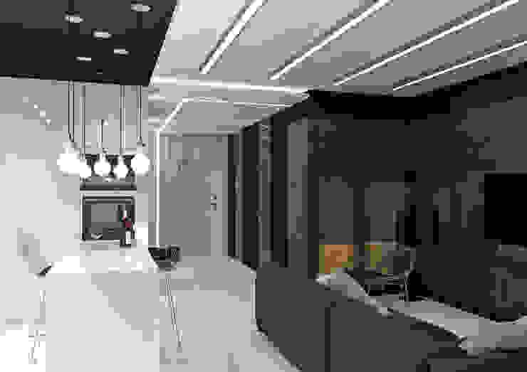 Квартира MINIMAL Гостиная в стиле минимализм от QUADRUM STUDIO Минимализм