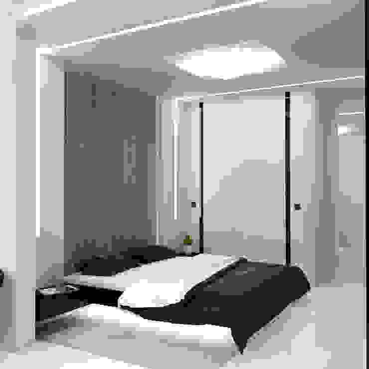 Квартира MINIMAL Спальня в стиле минимализм от QUADRUM STUDIO Минимализм