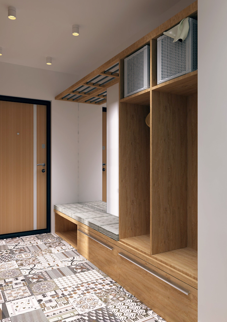 LOFT на Менякина Коридор, прихожая и лестница в стиле лофт от QUADRUM STUDIO Лофт