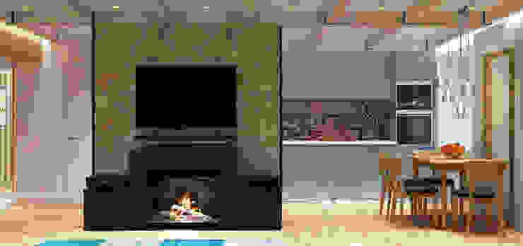 LOFT на Менякина Гостиная в стиле лофт от QUADRUM STUDIO Лофт