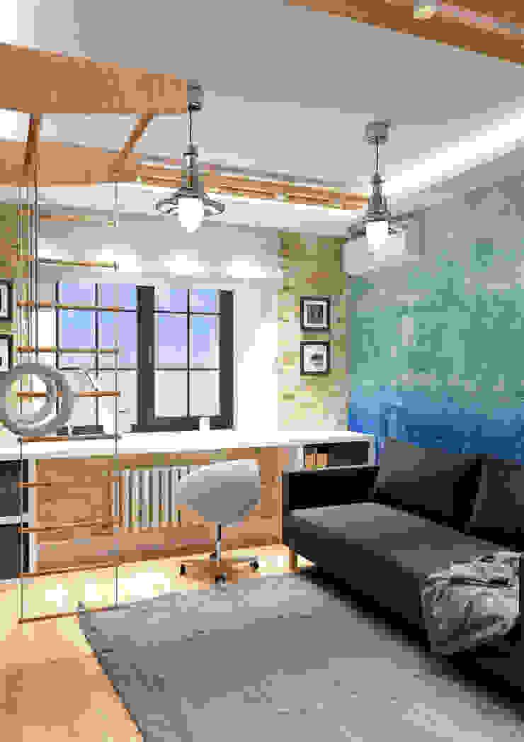 LOFT на Менякина Детская комната в стиле лофт от QUADRUM STUDIO Лофт
