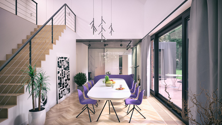 Scandinavian style dining room by INDEA Scandinavian