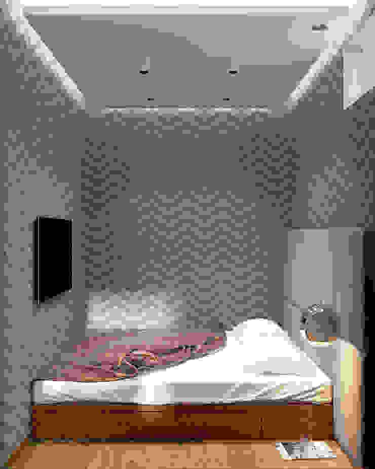 Студия 40 в Лазурном Спальня в стиле минимализм от QUADRUM STUDIO Минимализм