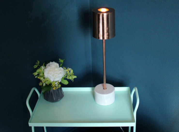 Desk Lamp Marble and Copper Dust HouseholdHomewares Copper/Bronze/Brass Amber/Gold