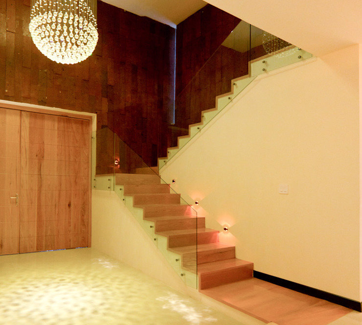 Modern Corridor, Hallway and Staircase by r79 Modern