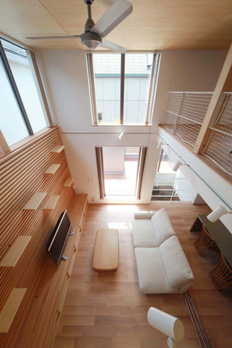 船原町の家 モダンデザインの リビング の 加門建築設計室 モダン
