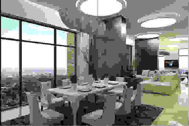 С видом на город Столовая комната в стиле минимализм от Art Style Design Минимализм