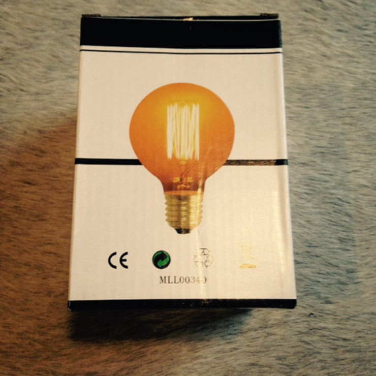 Round Filament Bulb Dust HouseholdHomewares Amber/Gold