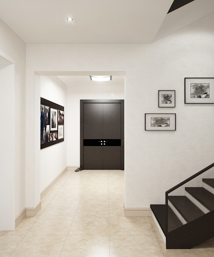 Жизнь за городом Коридор, прихожая и лестница в стиле минимализм от Art Style Design Минимализм