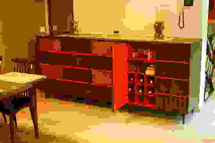 Residence at Raheja, Powai Asian style wine cellar by JRarchitects Asian