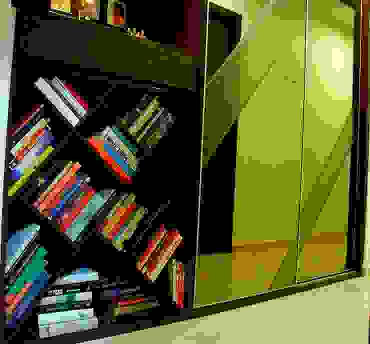 Residence at Raheja, Powai Asian style corridor, hallway & stairs by JRarchitects Asian