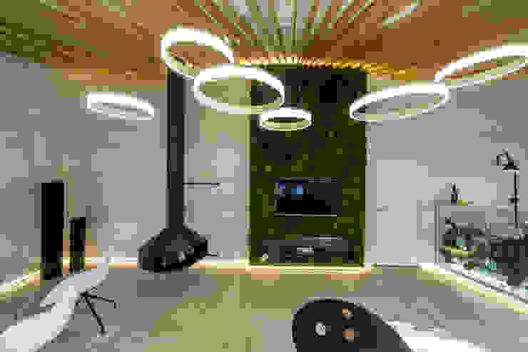 Михаил Новинский (MNdesign) Industrial style living room White