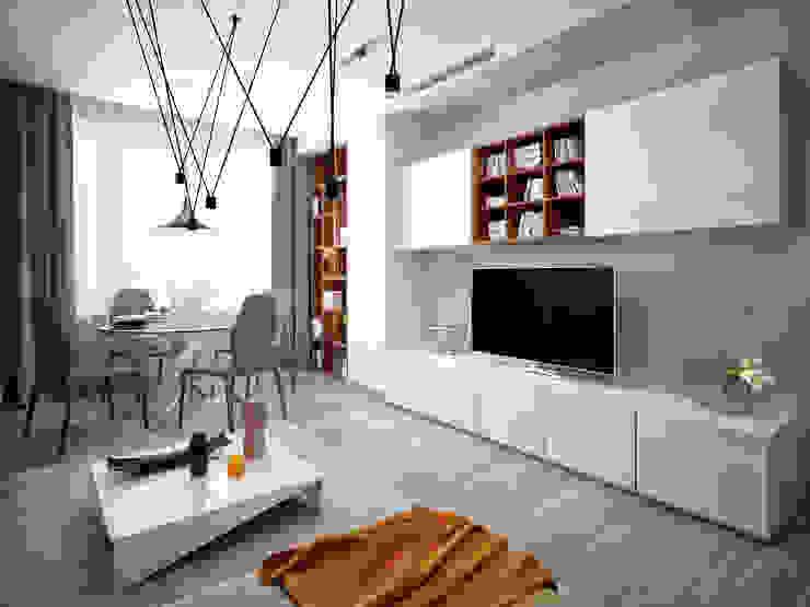 Minimalistische Wohnzimmer von Михаил Новинский (MNdesign) Minimalistisch