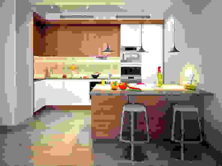 Квартира на Ленинградском шоссе Кухня в стиле минимализм от Михаил Новинский (MNdesign) Минимализм
