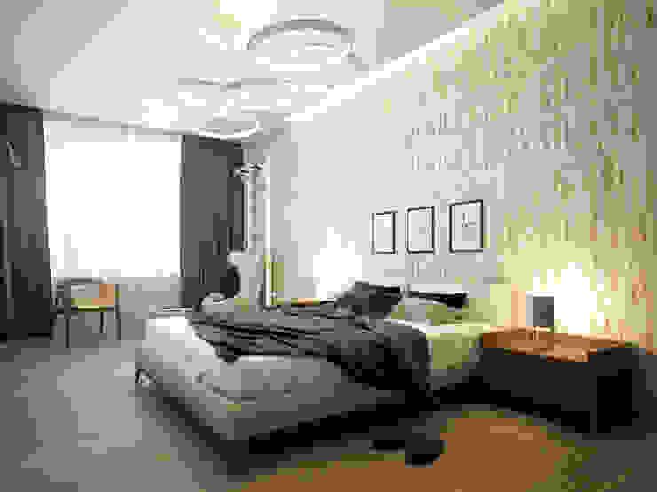 Квартира на Ленинградском шоссе Спальня в стиле минимализм от Михаил Новинский (MNdesign) Минимализм