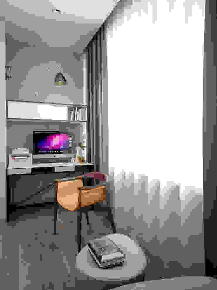 Квартира на Ленинградском шоссе Балкон и терраса в стиле минимализм от Михаил Новинский (MNdesign) Минимализм