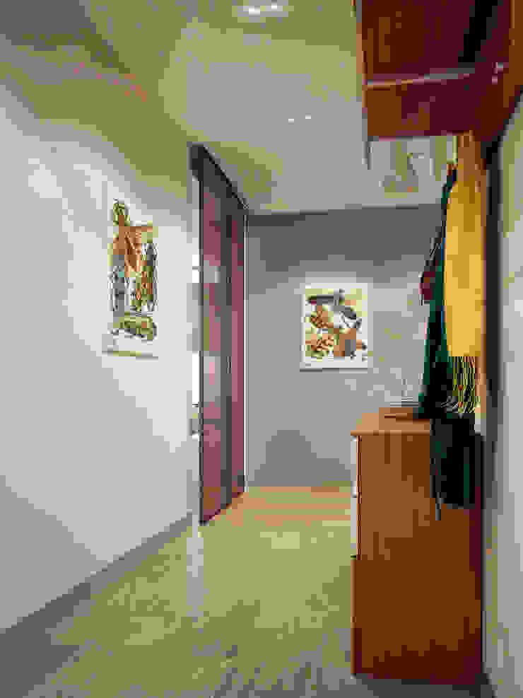 Квартира на Ленинградском шоссе Коридор, прихожая и лестница в стиле минимализм от Михаил Новинский (MNdesign) Минимализм