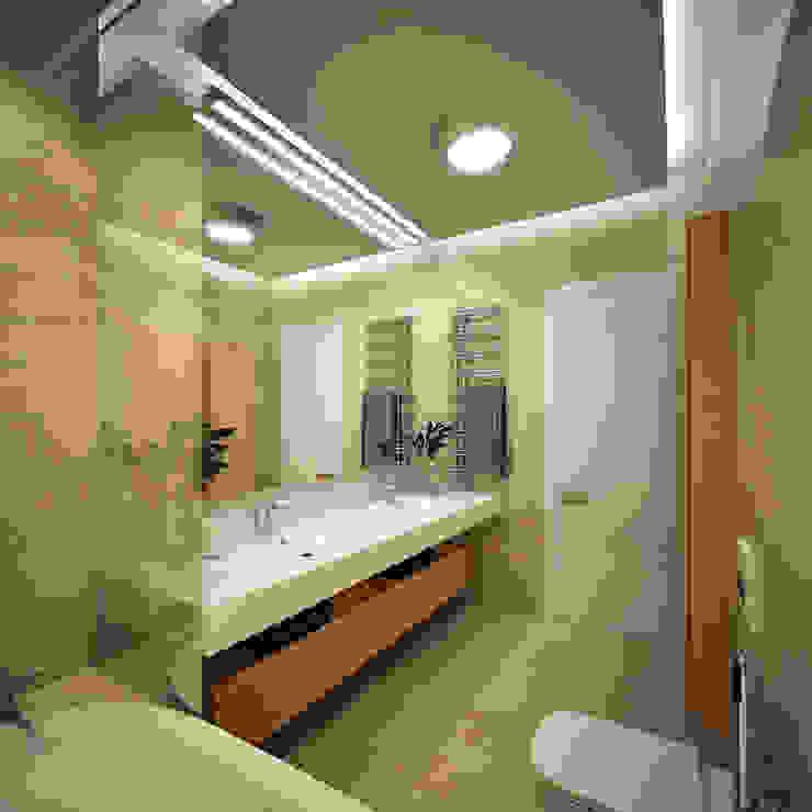 Квартира на Ленинградском шоссе Ванная комната в стиле минимализм от Михаил Новинский (MNdesign) Минимализм