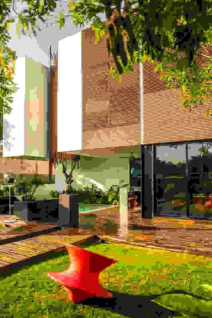 OM Casas modernas de FGO Arquitectura Moderno Madera Acabado en madera