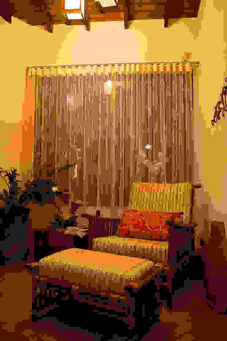Casa aconchegante Salas de estar rústicas por Barbara Fantelli arquitetura e interiores Rústico