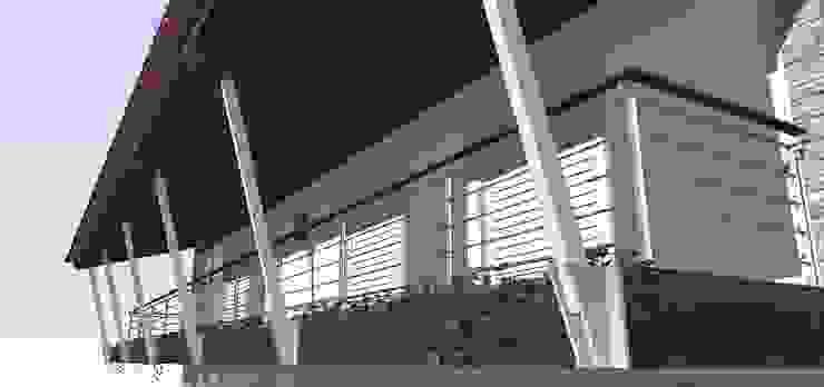 Casa ED Varandas, alpendres e terraços tropicais por Martins Lucena Arquitetos Tropical