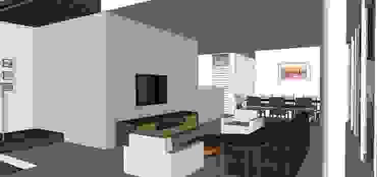 Casa ED Salas de estar tropicais por Martins Lucena Arquitetos Tropical