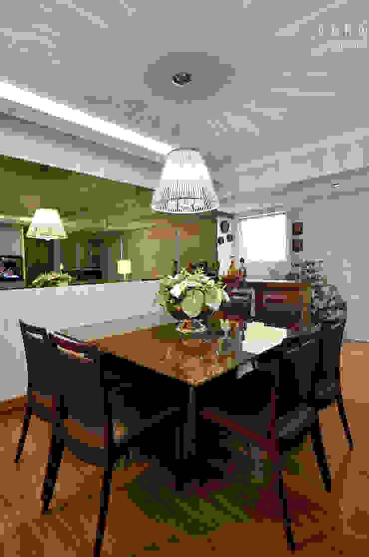 SALA DE JANTAR Salas de jantar rústicas por LizRibeiro Arquitetura Rústico Madeira Efeito de madeira