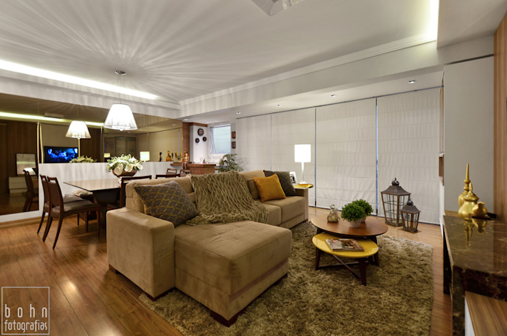 Rustic style living room by LizRibeiro Arquitetura Rustic Wood Wood effect