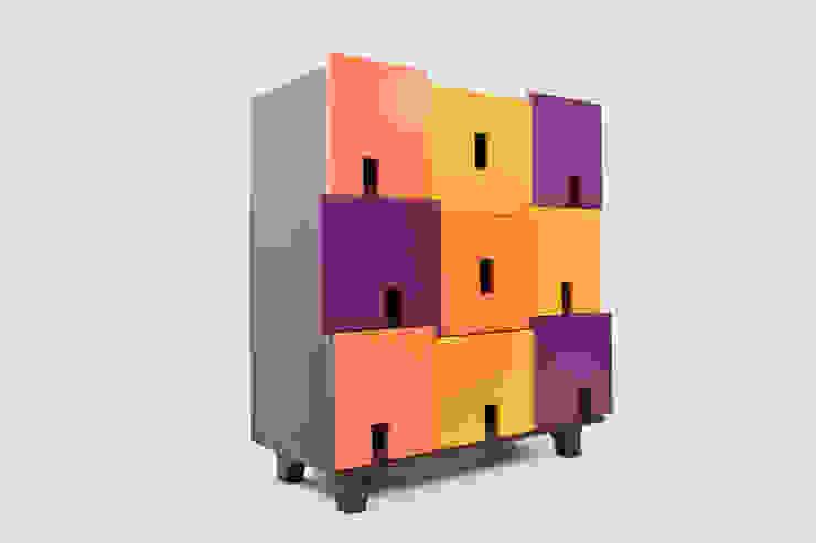APOTEMA Estudio de Diseño BedroomWardrobes & closets Plywood Multicolored