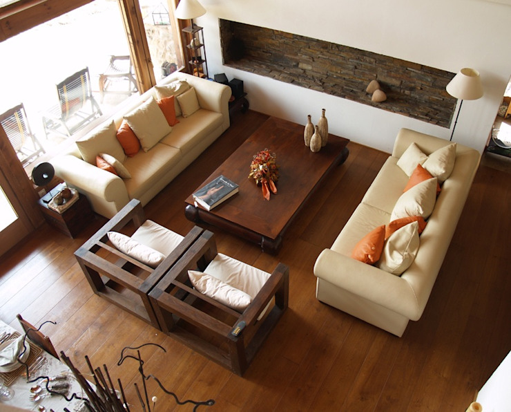 Interiores Salones de estilo moderno de Manuel Monroy Pagnon, arquitecto Moderno
