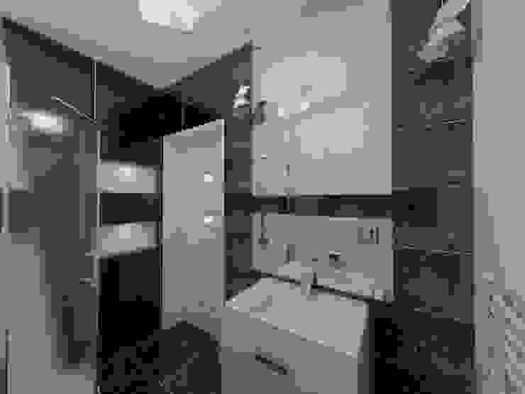Lustro nieskończone Nowoczesna łazienka od Katarzyna Wnęk Nowoczesny