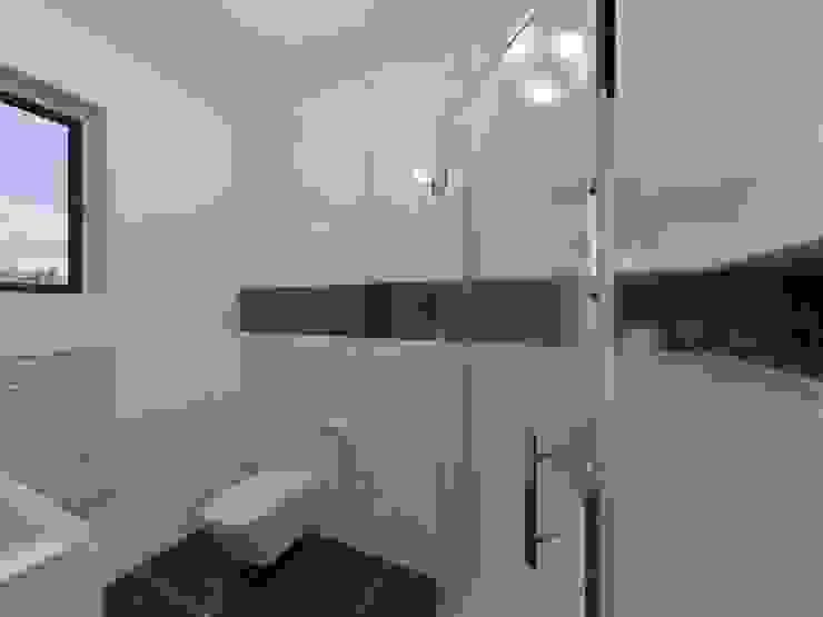 Geometryczna Nowoczesna łazienka od Katarzyna Wnęk Nowoczesny