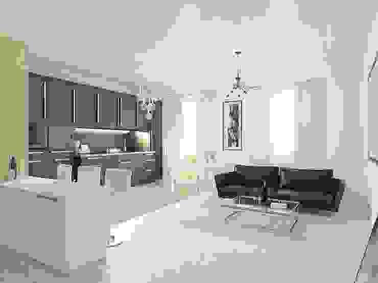Студия-квартира для творческой пары Гостиная в стиле модерн от OK Interior Design Модерн