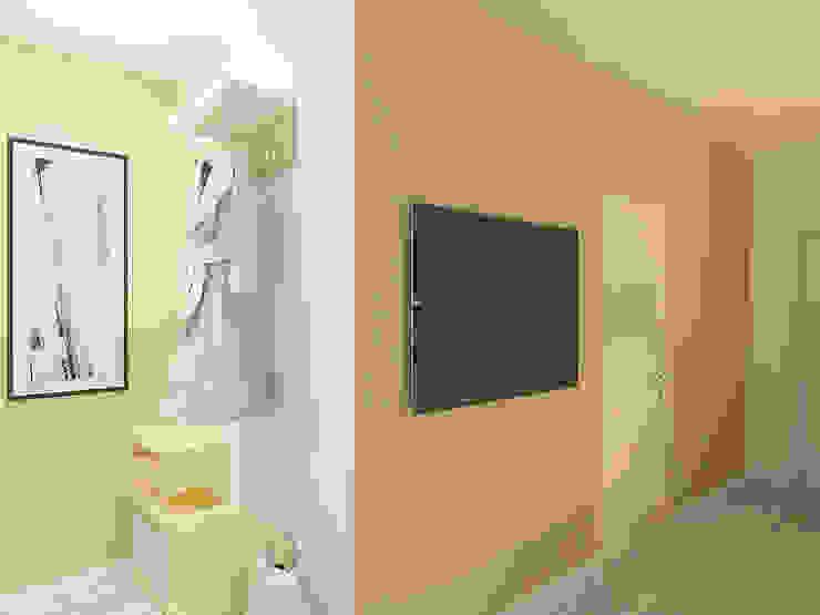 Студия-квартира для творческой пары Коридор, прихожая и лестница в модерн стиле от OK Interior Design Модерн