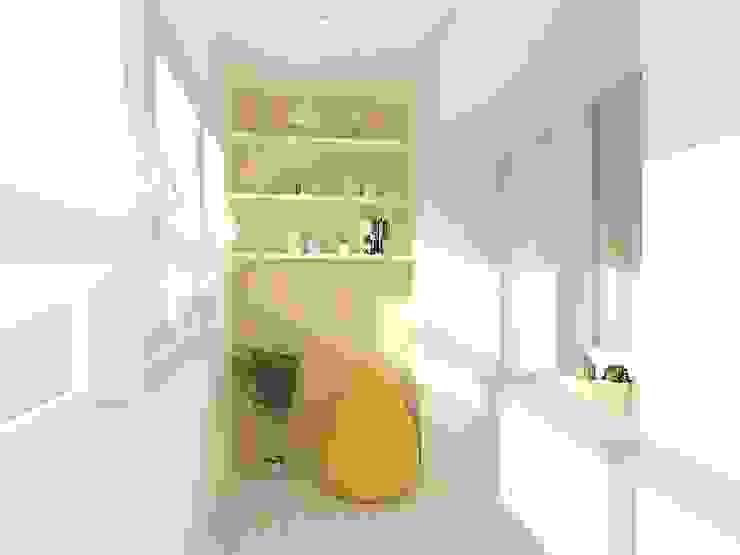 Студия-квартира для творческой пары Балкон и терраса в стиле модерн от OK Interior Design Модерн